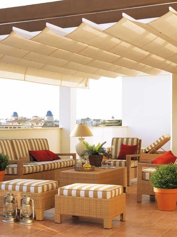 Estilos y muebles de exterior para espacios al aire libre Terrazas - cortinas para terrazas