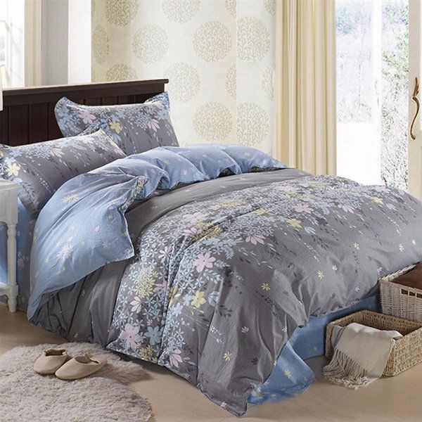 Bien-aimé 3 Or 4pcs Rosemary Flower Reactive Printing Bedding Sets  OE83