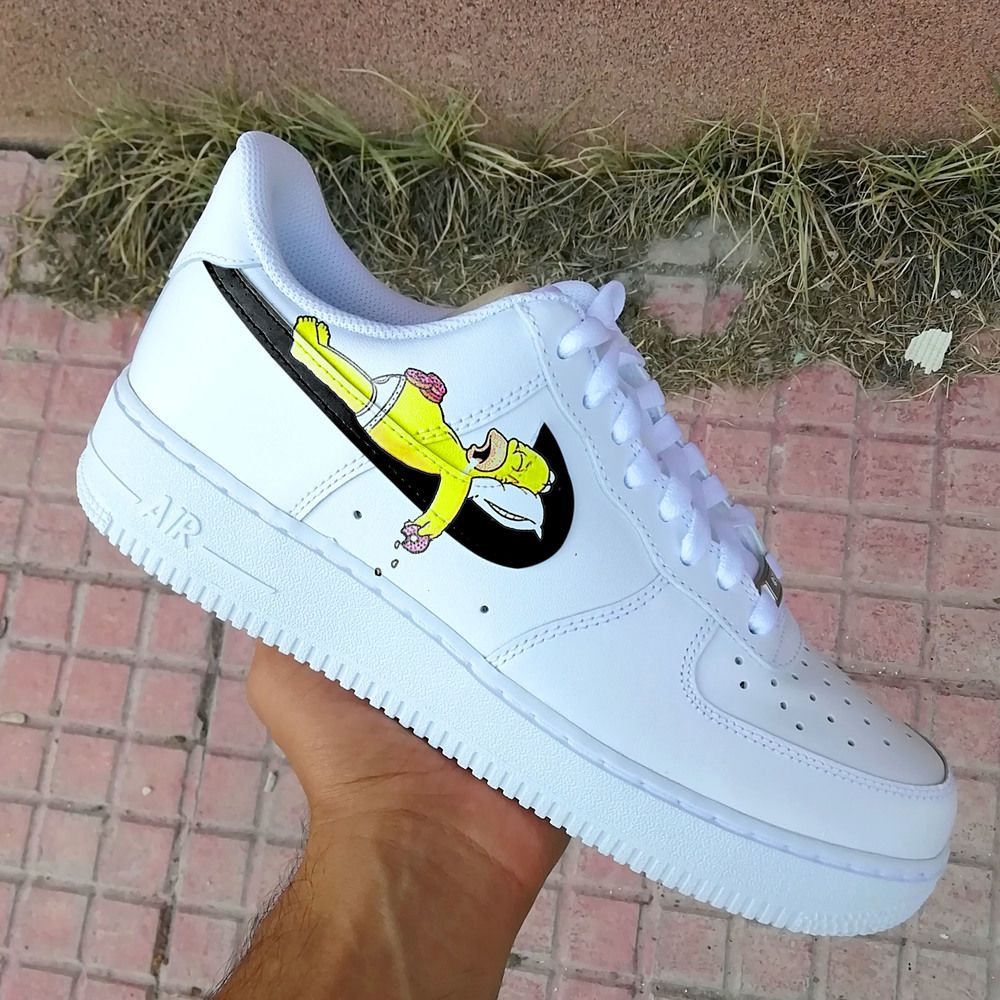 Homer Simpson swoosh Air force one in 2020 Nike air