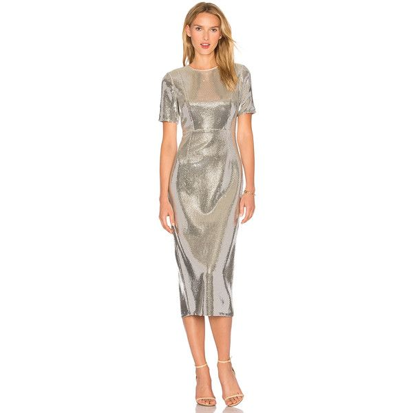 Diane von Furstenberg Sequin Dress ($1,300) ❤ liked on Polyvore featuring dresses, diane von furstenberg dress, sequin dress, brown cocktail dress, sequin embellished dress and brown sequin dress