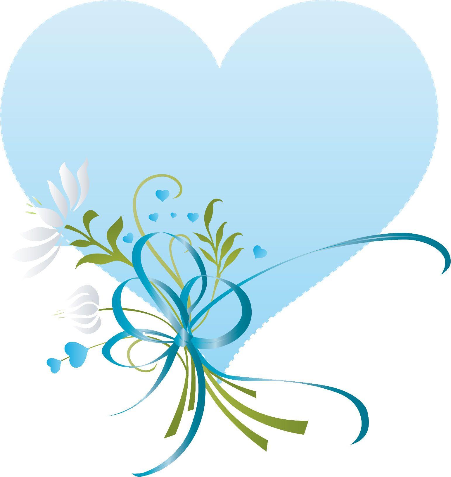 ハートマークの見本 ハートと花束 青 Home Decor Decals Decor Heart