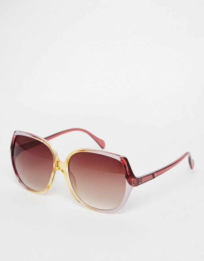f008f6876fd ASOS Oversized 70s Sunglasses In Pink Graduated Frame