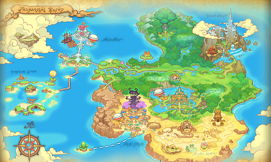 Fantasy Life World Map.The World Map Fantasy Life For The 3ds Pinterest Fantasy