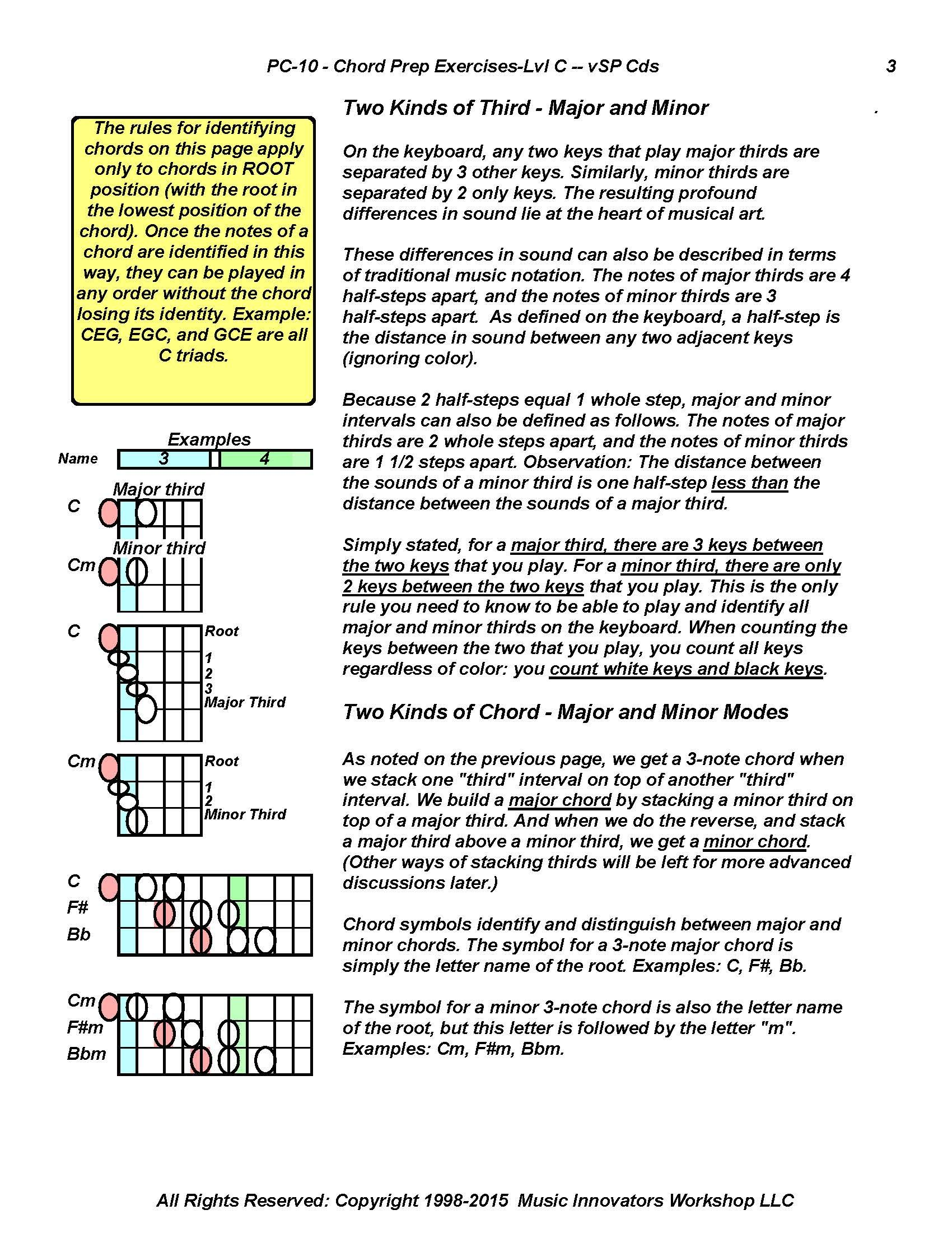 About Chords 2 Chord Prep With Exercises Pinterest Exercises