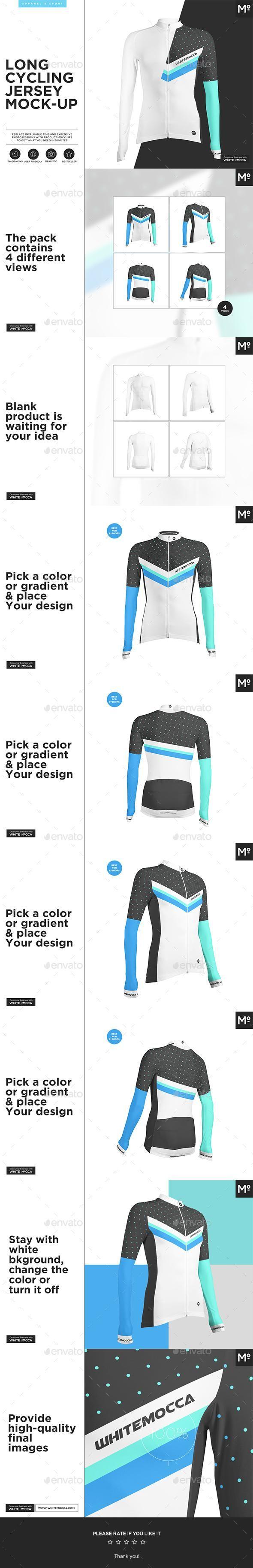 Download Long Cycling Jersey Mock Up For 15 Envato Market Mockup Psd Template Apparelmockup Apparel Fashion Fashiondesig Clothing Mockup Cycling Jersey Mockup