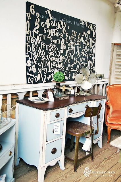 A Painted Desk - Miss Mustard Seed