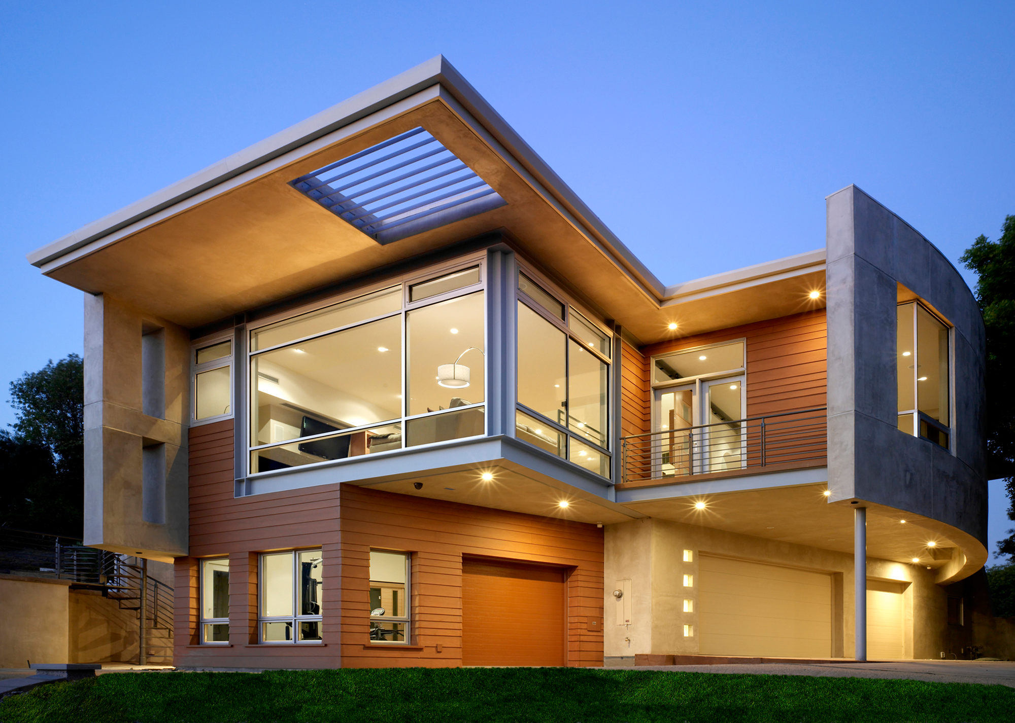 Linear architecture exposed steel beams and floor to ceiling windows craft a modern dream home