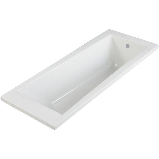 Baignoire rectangulaire Access design SENSEA, acrylique, 160x70 cm