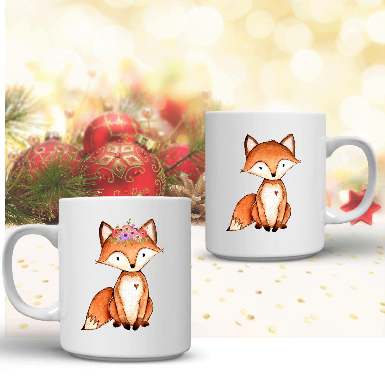Mr and Mrs mugs - fox coffee mug - newlywed gifts - couples mugs ...