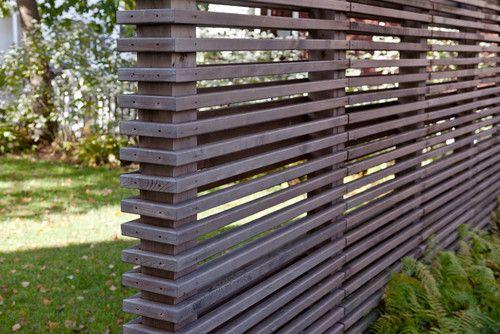 Charcoal Horizontal Slat Wood Fence