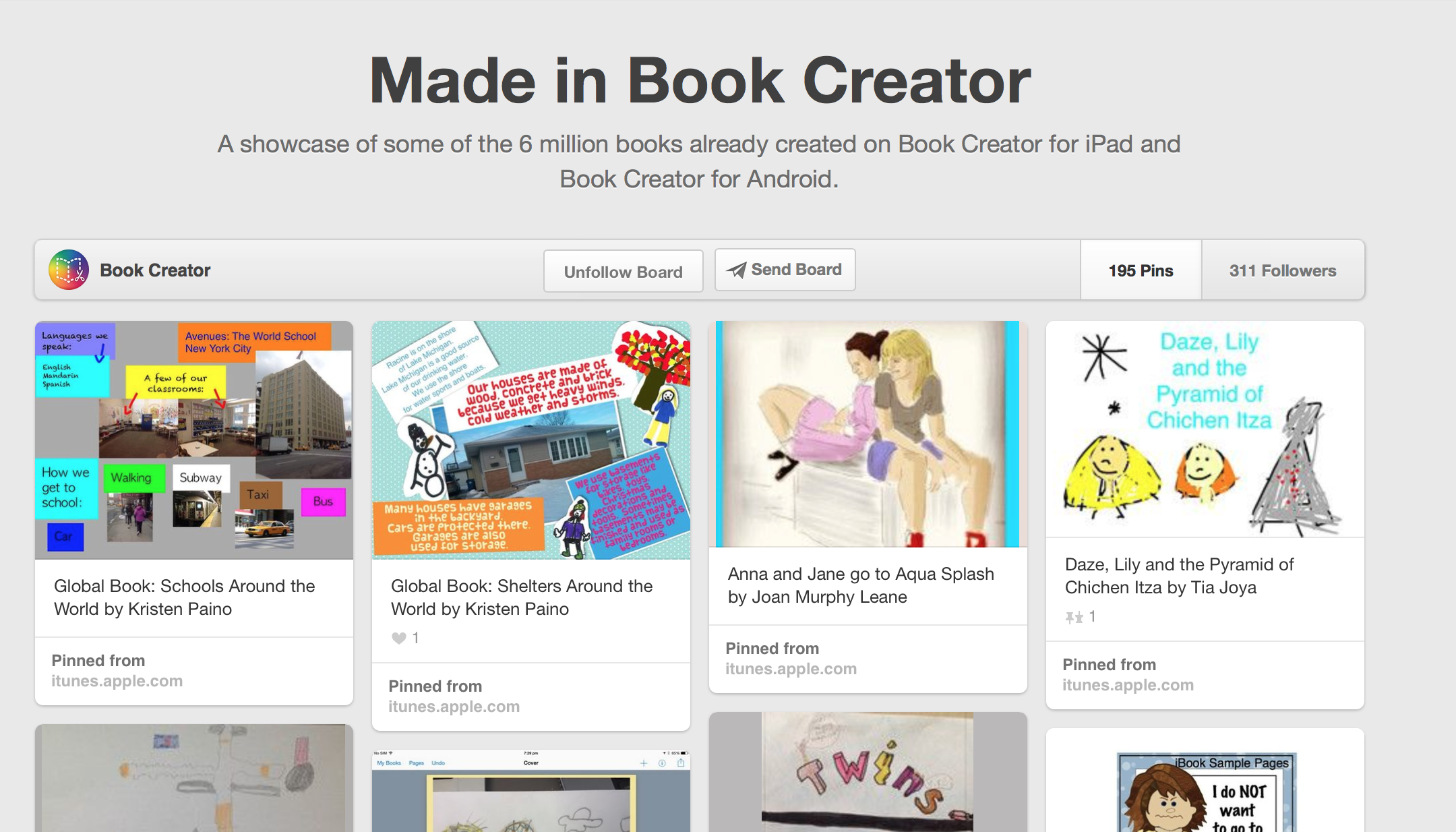 Made In Book Creator Lots Of Great Examples Of Books Made By