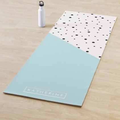 Cute Dots Pattern Yoga Mat | Zazzle.com