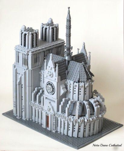 Notre Dame Cathedral Lego Model By Rangerelegost Lego