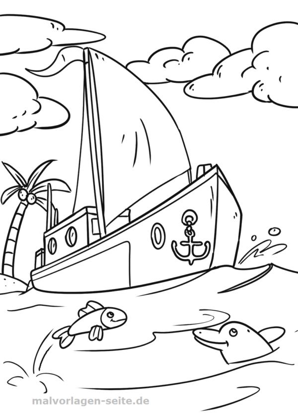 Malvorlage Seegelboot Fahrzeuge Malvorlagen Ausmalbilder Vorlagen