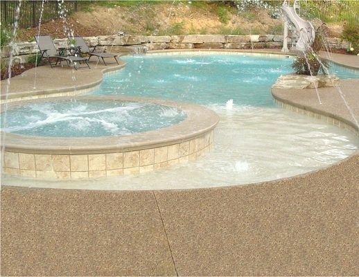 Exposed Aggregate Concrete Pool Deck Patio Cincinnati Ohio