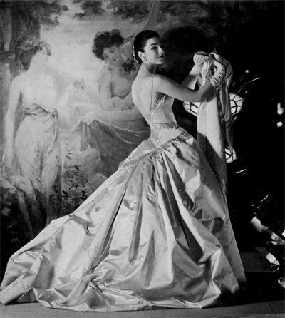 Anyone thinking what I'm thinking??...Vivienne Westwood wedding dress inspiration from Sex and the City!  1955 – Dorian Leigh in Patou