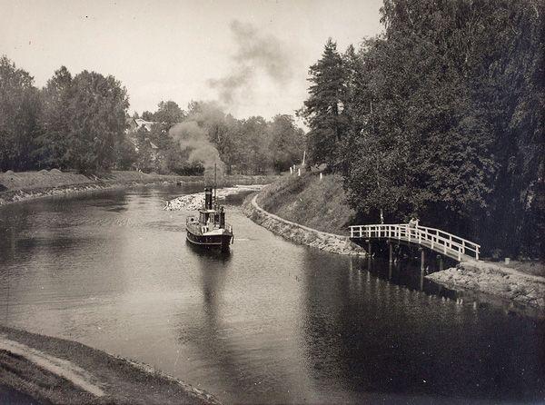 Kanalbåt. Foto, K. E. Ståhlberg