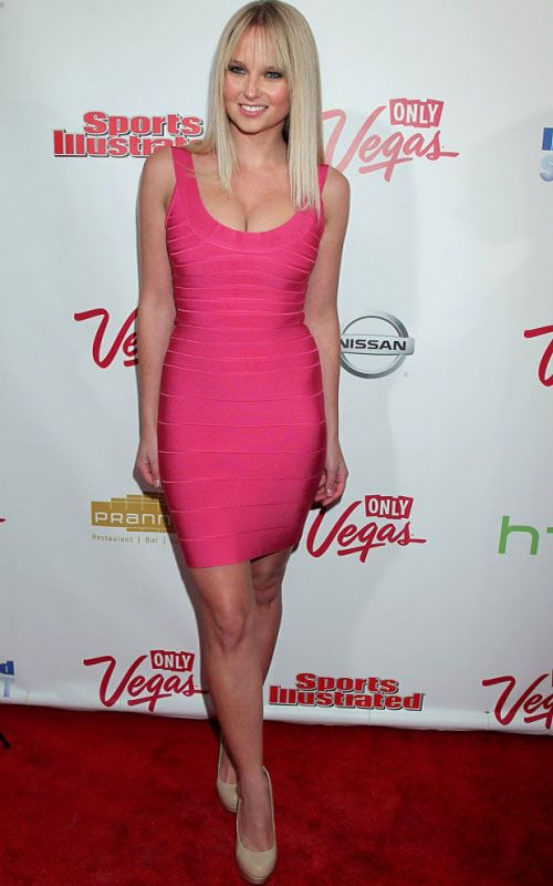 Spoiled Brat Scoop Neck Herve Leger Bandage Dress in Hot Pink ...
