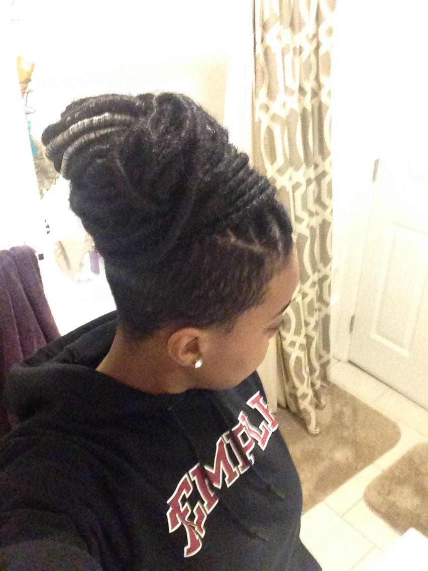 Faux locs with marley hair and shaved sides braided mohawk pinterest