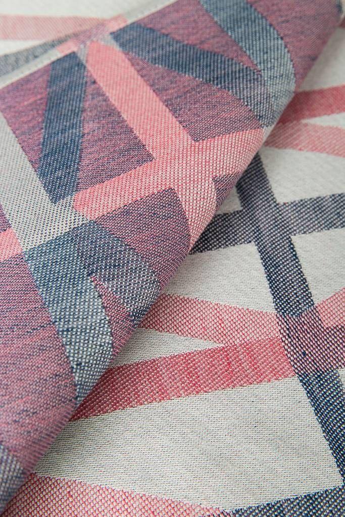 Raw Color TextielMuseum Identity Blue-Pink Glazendoek - by TextielMuseum