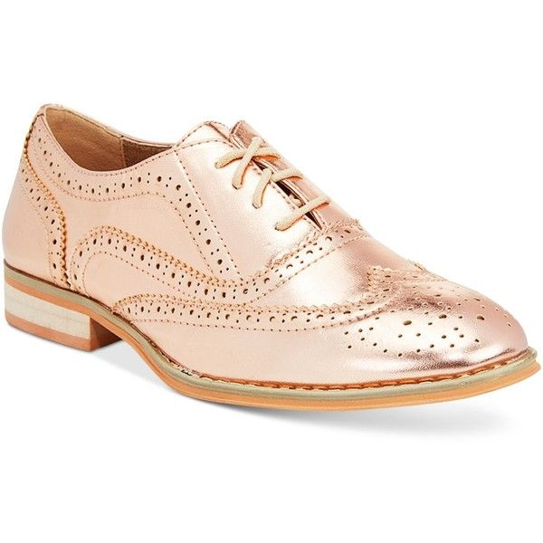 Wanted Babe Lace-Up Oxfords   Gold