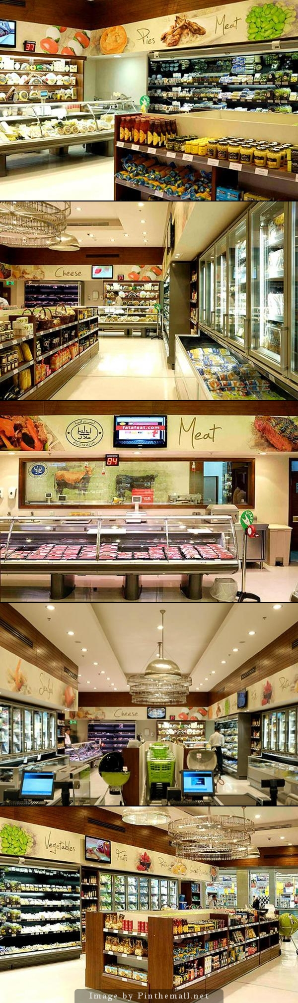 Clean retail grocery store interior design of gourmet for Cairo outlet