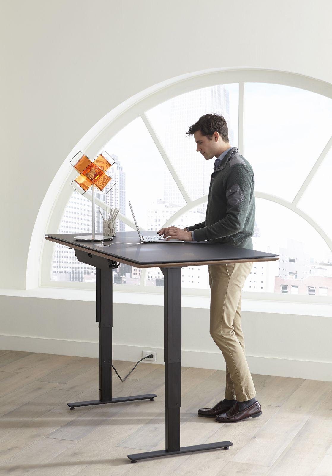 Sequel Lift Desk In 2020 Lift Desk Office Furniture Modern Desk