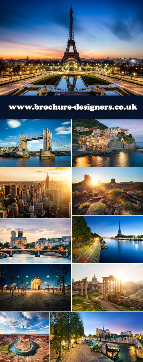 Cities At Sunset Images Suitable For Travel Brochure Design Www