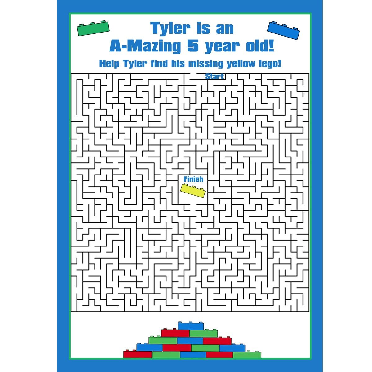 24 Personalized Game Cards For Your Lego Birthday Party