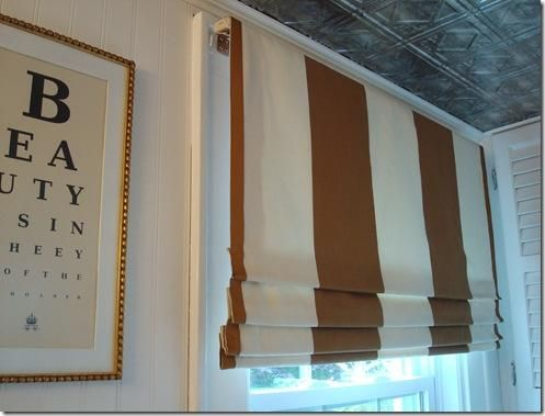 mommy diy blinds sew a white roman check to the shade make buffalo and black how