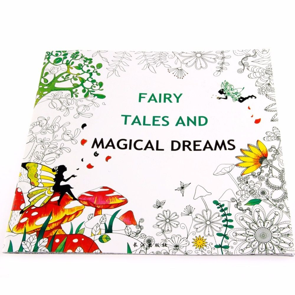 Fairy Tales And Magical Dreams Children Adult Graffiti Coloring
