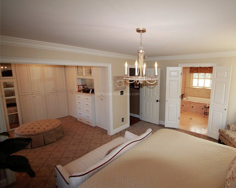 Master suite bedroom walk in deluxe closet travertine - 2 bedroom suites in birmingham al ...
