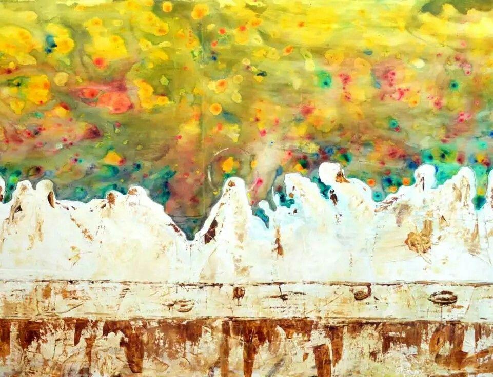 The last supper -abstract art | Amen, Amen I say... | Pinterest ...