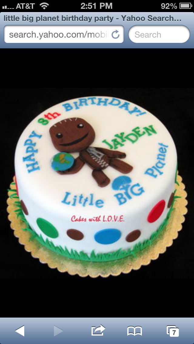 Tremendous Little Big Planet Birthday Cake With Images Little Big Planet Birthday Cards Printable Riciscafe Filternl