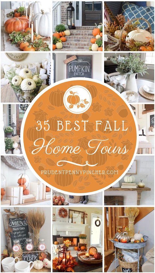 35 Best Fall Home Tours #fall #falldecor #falldecorations #hometour #thanksgiving #diy