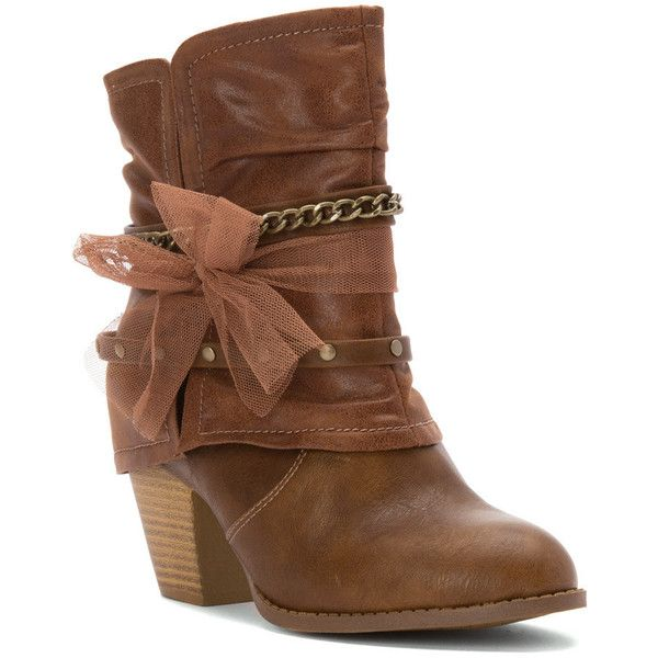 Jellypop Womens Brown Boots Blake Bootie Distressed