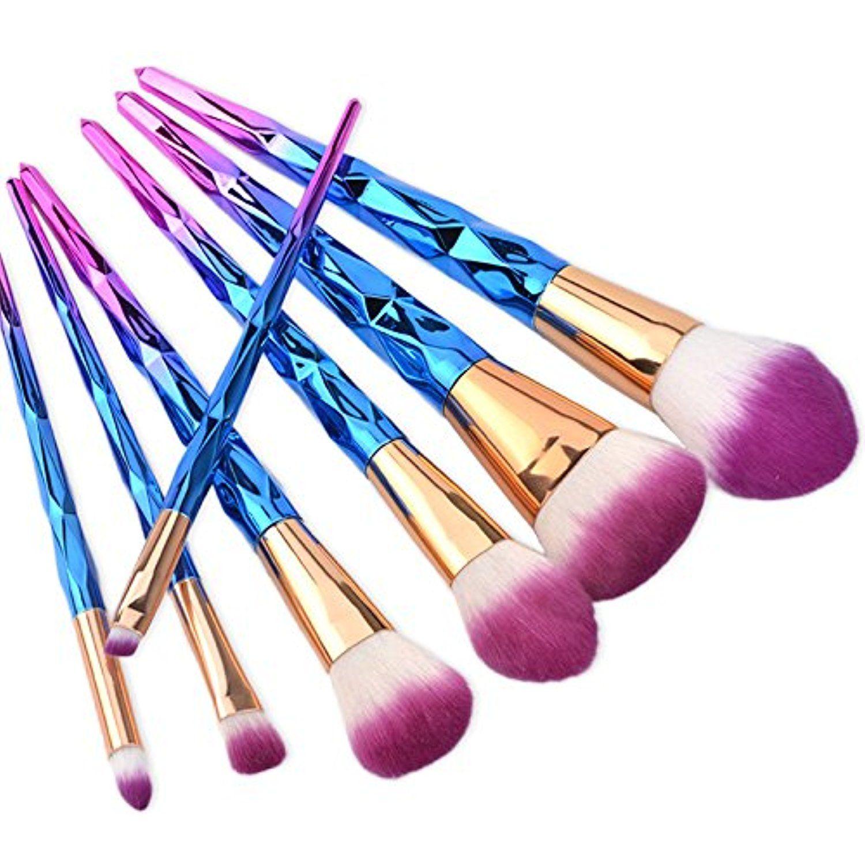 New Style 7Pcs Makeup Brush Set Foundation Blusher Face