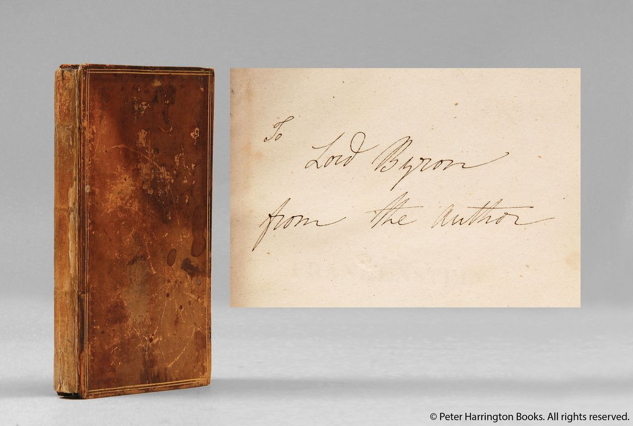 First Edition Presentation Copy Of Mary Shelleys Frankenstein 1818 Given By Her To Lord Byron With Autograph Inscription On The Front Flyleaf