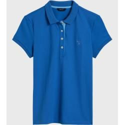 Photo of Gant short sleeve contrast collar Piqué Polo (blue) GantGant