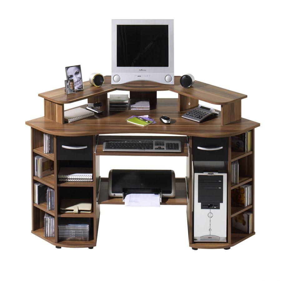 Dylan Eck Computertisch Walnuss Schwarz Dekor Computertisch Zimmer Gestalten Tisch