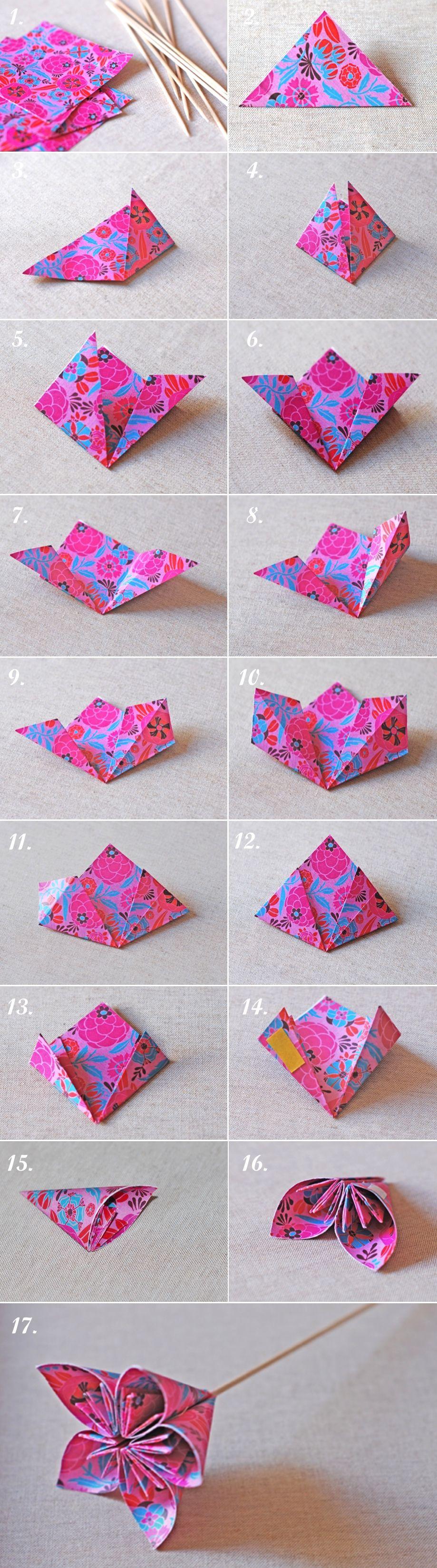 A Kiss Of Colour Diy Flores De Papel Paper Flowers Origami Kusudama