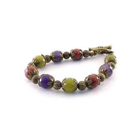 Colorful Quartz Bracelet Faceted Chartreuse by CinLynnBoutique, $30.00