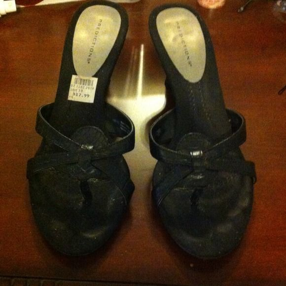Classy Black Sandals Preloved but in good condition. Can fit a 9 as well. Predictions Shoes Sandals