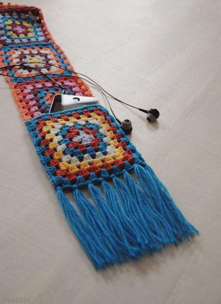 35+ Trendy crochet scarf granny square ideas #grannysquareponcho 35+ Trendy crochet scarf granny square ideas #crochet #grannysquareponcho