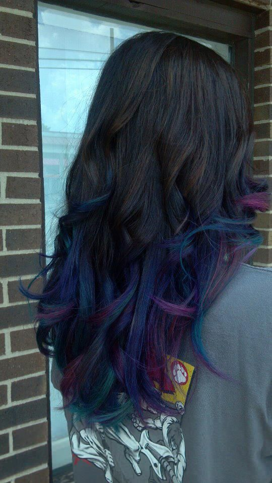 Jewell Hair: Jewel Tone Ombre Hair Candy Portland Indiana