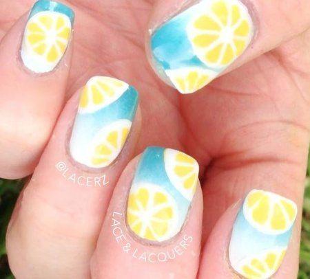 Summer Nails-Lemons #nails #yellow #nailart #prettymani - bellashoot.com