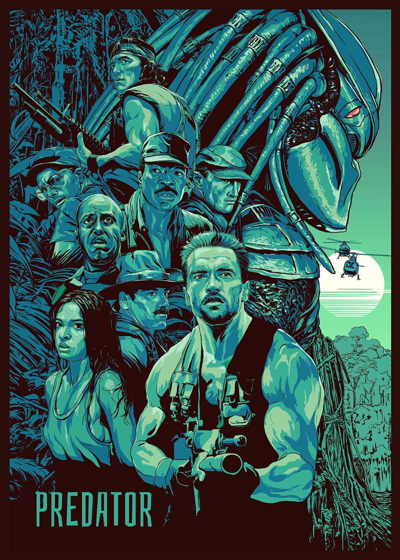 Photo of The Predator (2018) Film Posters(The salutatory theme )