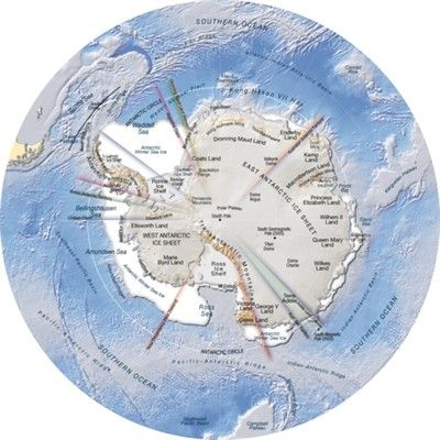 Antarctica topography and bathymetry topographic map Bathymetry