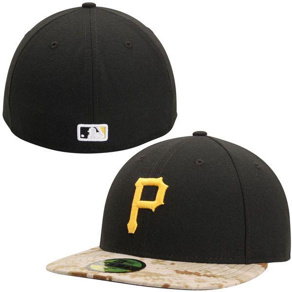 Men s Pittsburgh Pirates New Era Black Camo Memorial Day Stars   Stripes  On-Field b99bd80dfa57