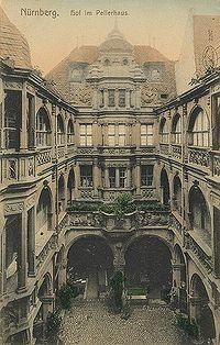 Nürnberg,  Pellerhaus, Innenhof.
